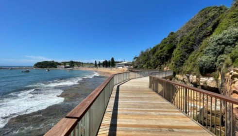 TERRIGAL BOARDWALK NEARING COMPLETION