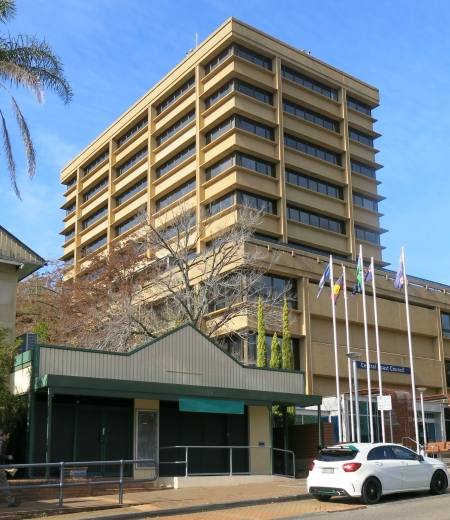 Council's Gosford building copula become apartments.