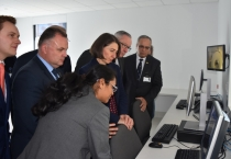 : Premier Gladys Berejiklian gets a rundown of the advanced technology in the new clinical tower at Gosford Hospital.