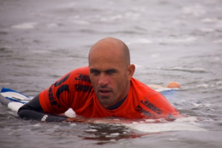 11-time surf world champion Kelly Slater.
