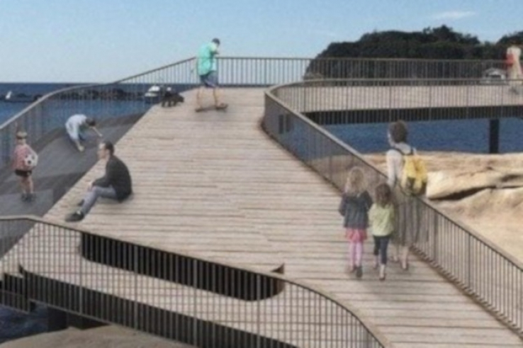 Artist impression of thre Terrigal Boardwalk.
